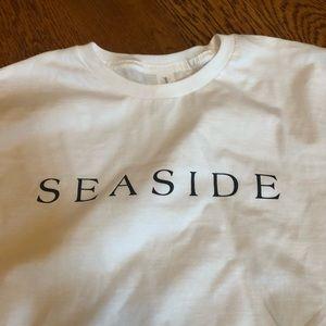 Seaside white short sleeve t shirts new